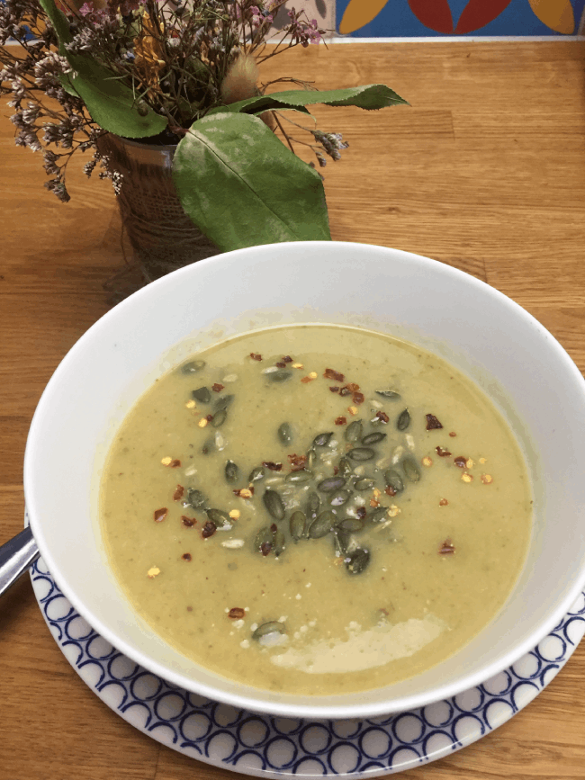 combating food waste with cauliflower leaf soup